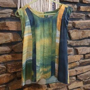 Size S Veronika Maine 55% Silk Sleeveless top